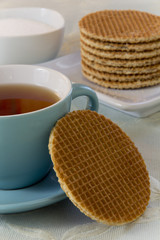 Dutch Waffles (Stroop Wafels) with Tea