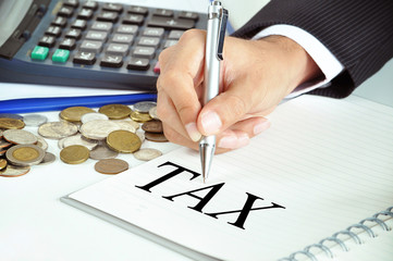 Tax - business & investment concept