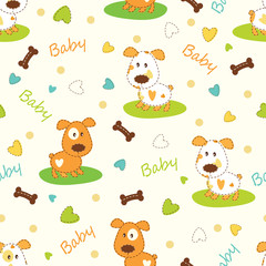 Set of seamless patterns for baby boy