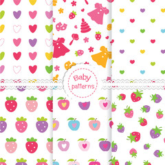 Set of baby seamless  patterns