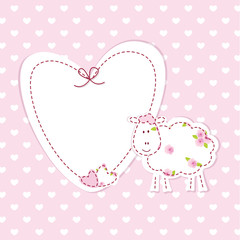 Baby background with sheep