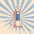 Vintage gas dispenser sign - 68100310