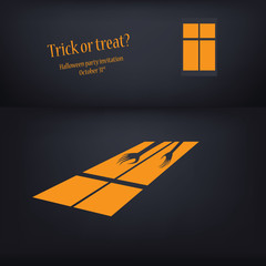 Halloween card vector illustration