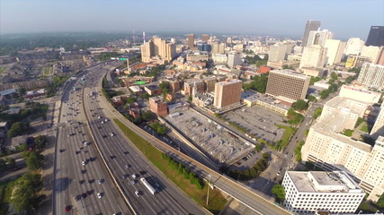 Aerial video Downtown Atlanta Georgia drone