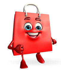 Shopping bag character
