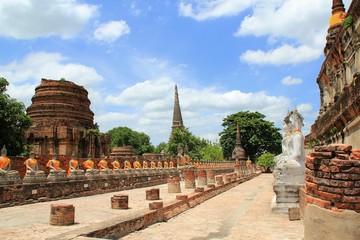 Wat Yai Chaimongkol at Ayutthaya in Thailand