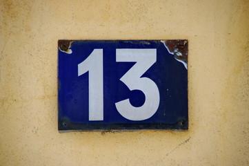 13, treize, tredici,thirteen,  dreizehn,