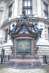 Paris. Sculptures on the facade of the Opera Garnier. Bust Miche