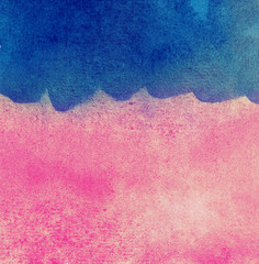 Abstract colorful watercolor background, blue wave