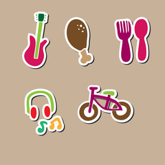 food music bicycle relax square
