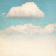 Vintage clouds and sky background.