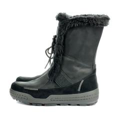 Black warm feminine boots.