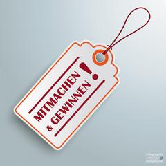 White Price Sticker Mitmachen und Gewinnen