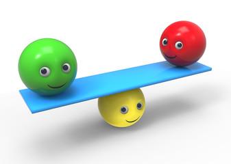 equilibrium - 3d composition