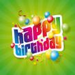 Happy birthday fond vert