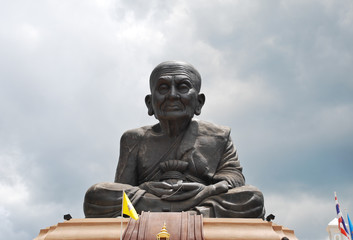 statue of monk Luang Pu Thuad, Thailand