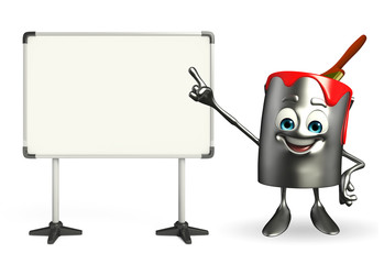 Paint Bucket Character with display board
