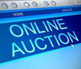 Online auction concept.