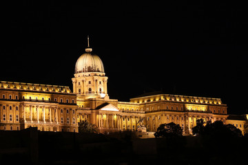 Budapest royal castle by night
