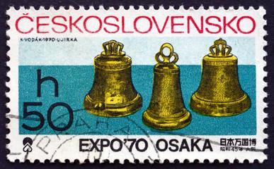 Postage stamp Czechoslovakia 1970 Bells