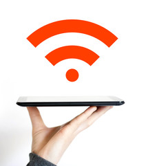 Business Icon signal online tablet wifi
