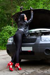 she opened the hood