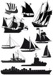 Schiffe und Segelschiffe