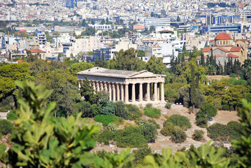 Temple of Hephaestus and Athens city