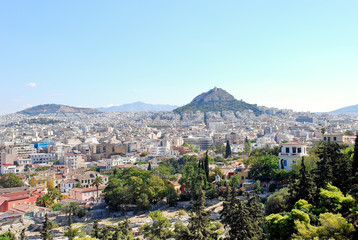 Athens city and Lycabettus Mount, Greece
