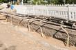 Grundwasserabsenkung - Einzelne Saugrohre und eine Sammelleitung