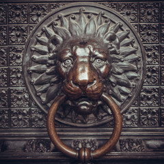lion head as a knocker.