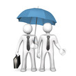 Businessman Umbrella Affiliate