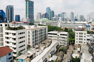 view of modern residential district in Bangkok