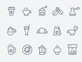 Fototapety Coffee icons