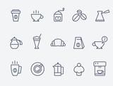 Fototapety Coffee icons