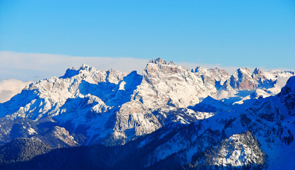 panorama of Dolomites mountain in Dolomites, Italy