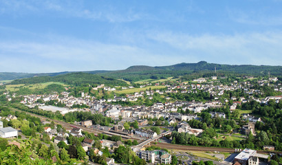 town Gerolstein, Germany in summer day
