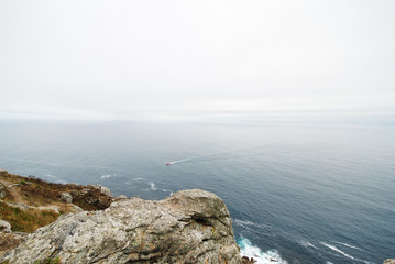 Atlantic ocean from Cape Finisterre, Galicia