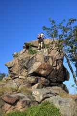 Geocashing oh the rock