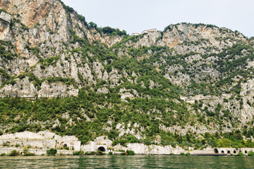 rocky shores of Lake Garda, Italy