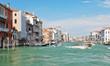 facades of houses along venetian grand canal,