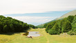 country landscape in Monte Baldo mountains