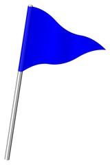 Fanion de signalisation bleu