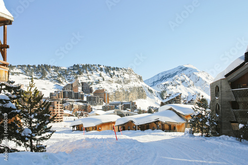 cityscape of Avoriaz town in Alp, France