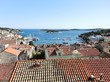 view of Hvar town on island in Adriatic Sea