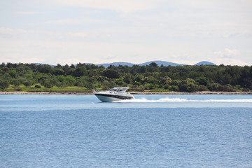 motor boat in Adriatic Sea, Dalmatia