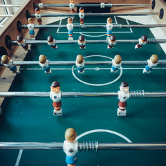 Table football game.  Soccer table game