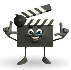 Clapper Board Character with director pose