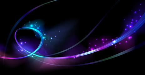 Colorful lights neon background
