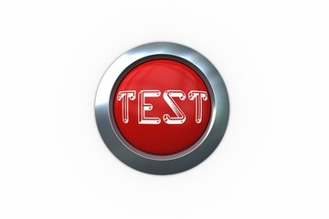 Test on digitally generated red push button